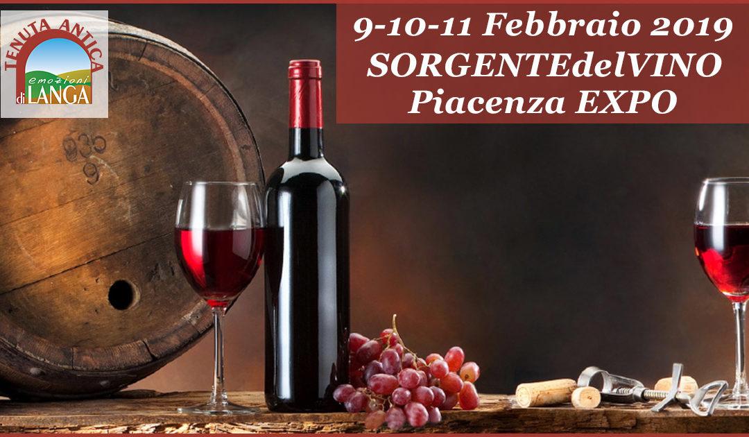 9-10-11 Febbraio | SORGENTIdelVINO LIVE2019 | Piacenza EXPO