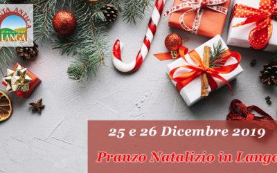 25 e 26 Dicembre – Pranzo Natalizio 2019